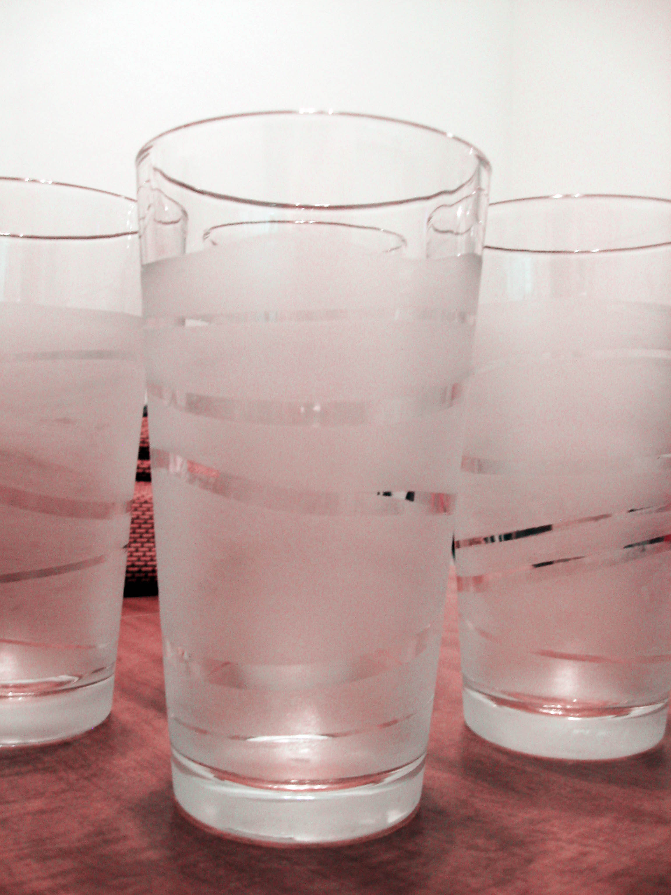 Diy frosted glasses make something mondays for Painting while drinking wine