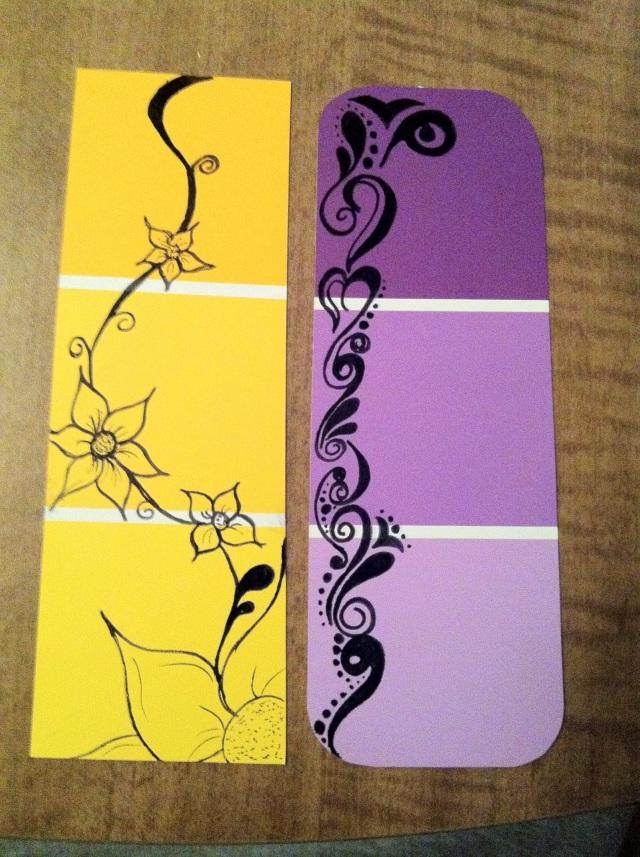 diy doodle bookmarks