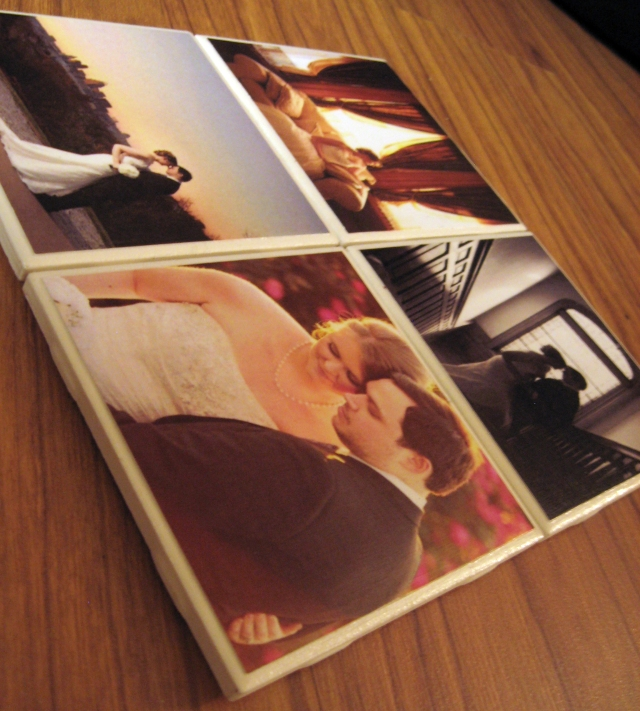 wedding gift photo coasters