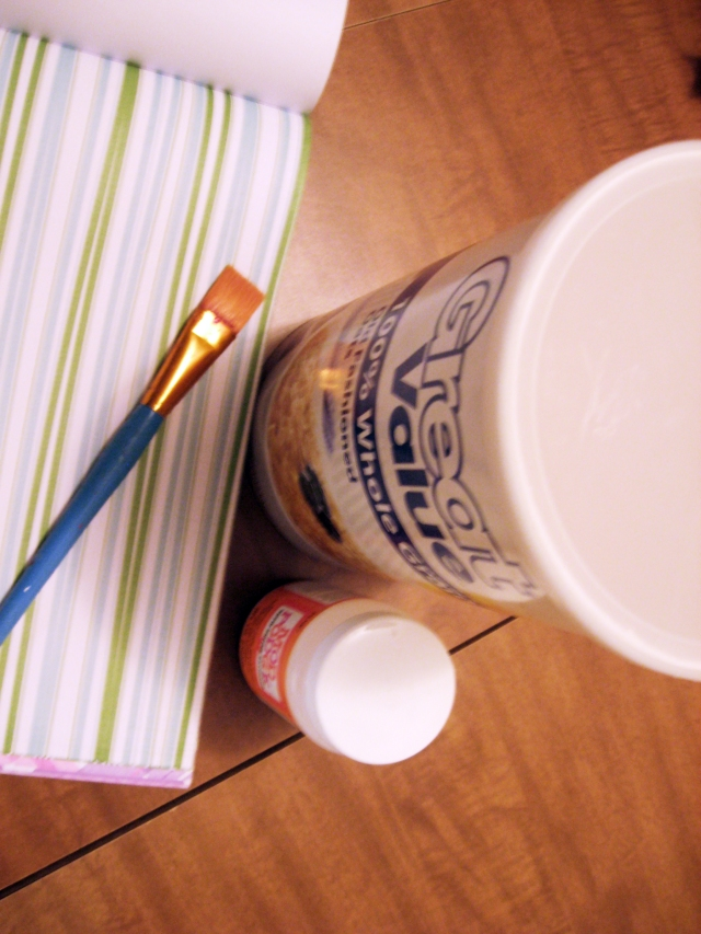 DIY toilet paper holder materials