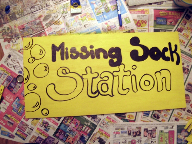 Missing sock station