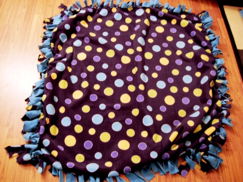 no-sew throw Blanket