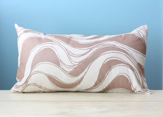 brown striped cushion