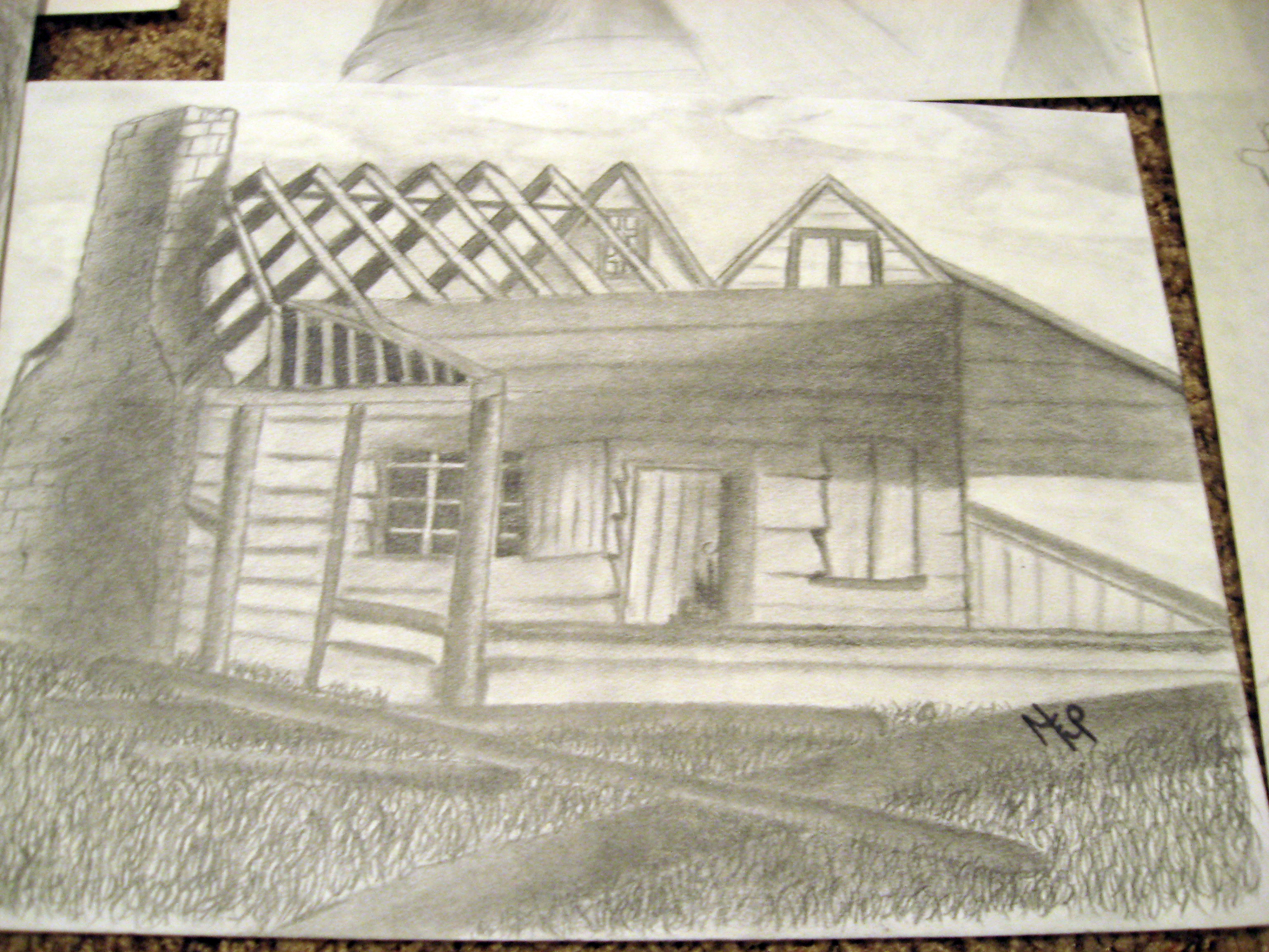 Easy Old House Drawing Old-house-drawing