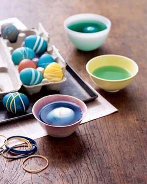 rubber bands for easter egg designs