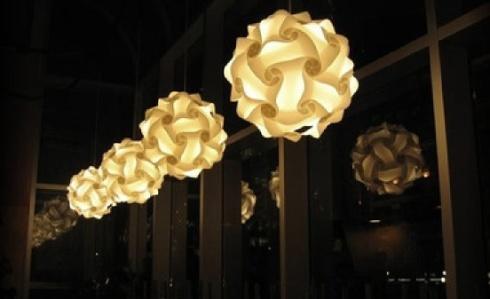 Line of infinity lights
