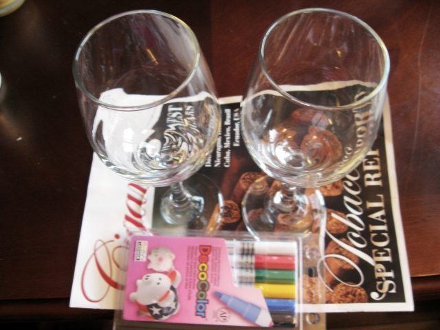 Materials for bad day wine glasses