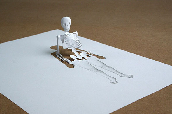 skeleton by Peter Callesen