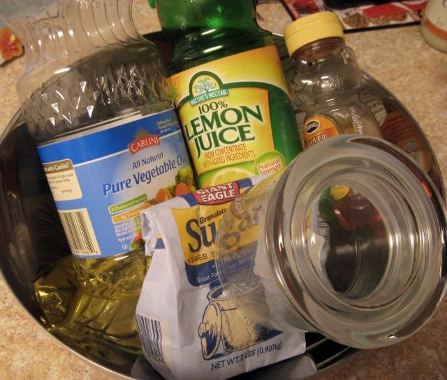 sugar scrub materials