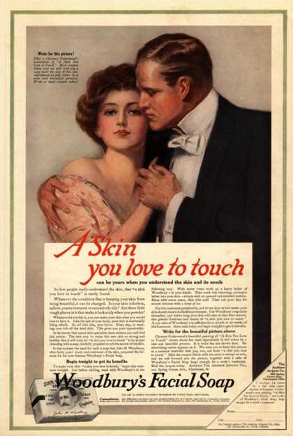The Woodbury Facial Soap Campaign was the first use of sex in marketing (1911)