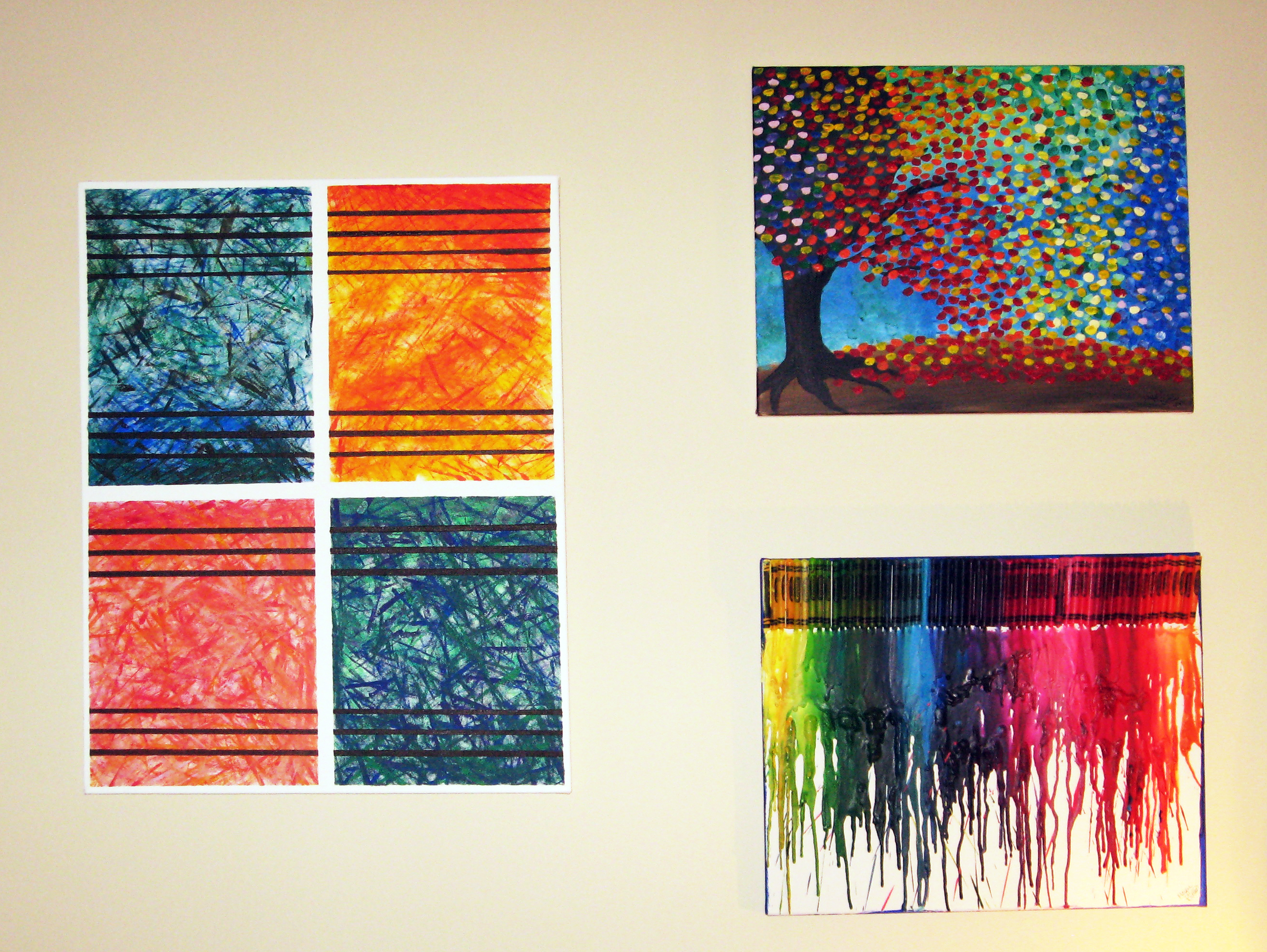 Diy abstract wall art make something mondays for Modern artwork for home