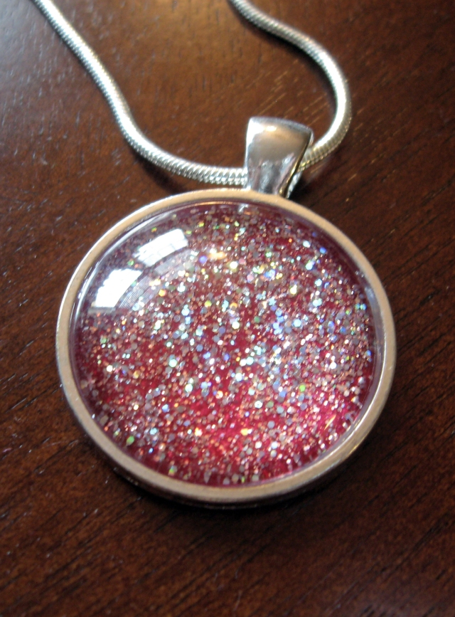 DIY Glitter Pendant via Make Something Mondays