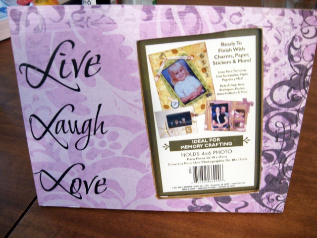 Live, Love, Laugh picture frame DIY