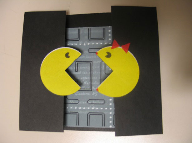 Pac Man wedding invitation
