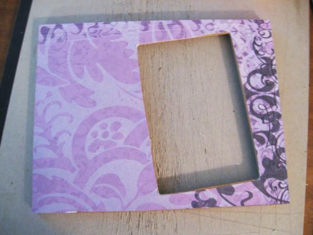 DIY Scrapbook Picture Frame