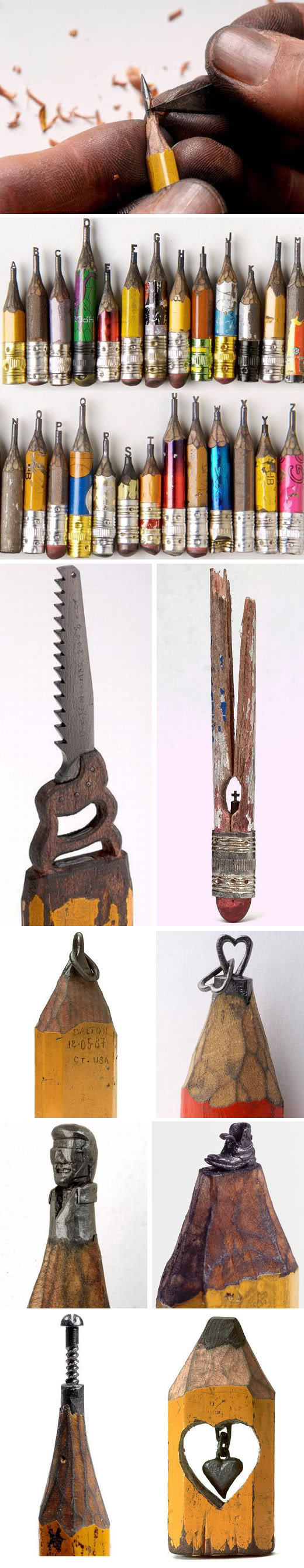 Pencil sculptures by dalton ghetti make something mondays