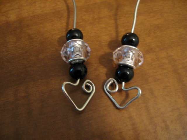 DIY Heart-Shapped Wire Earrings