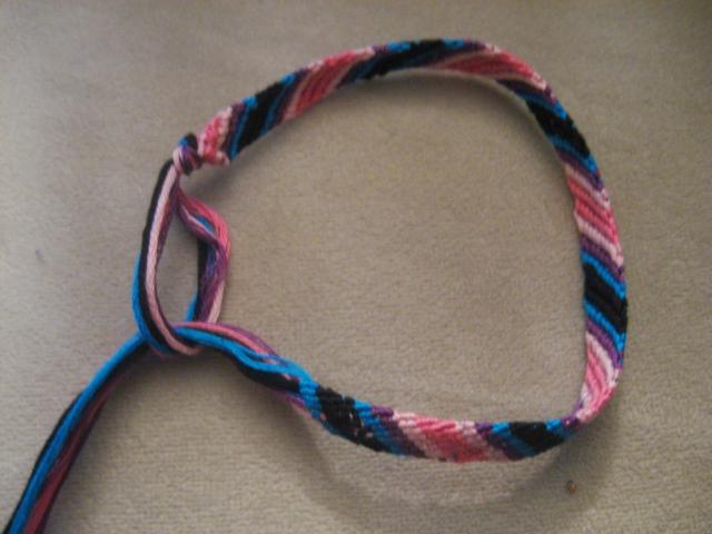 diy knotted friendship bracelet make something mondays. Black Bedroom Furniture Sets. Home Design Ideas