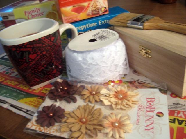 Materials for the DIY Tea Box