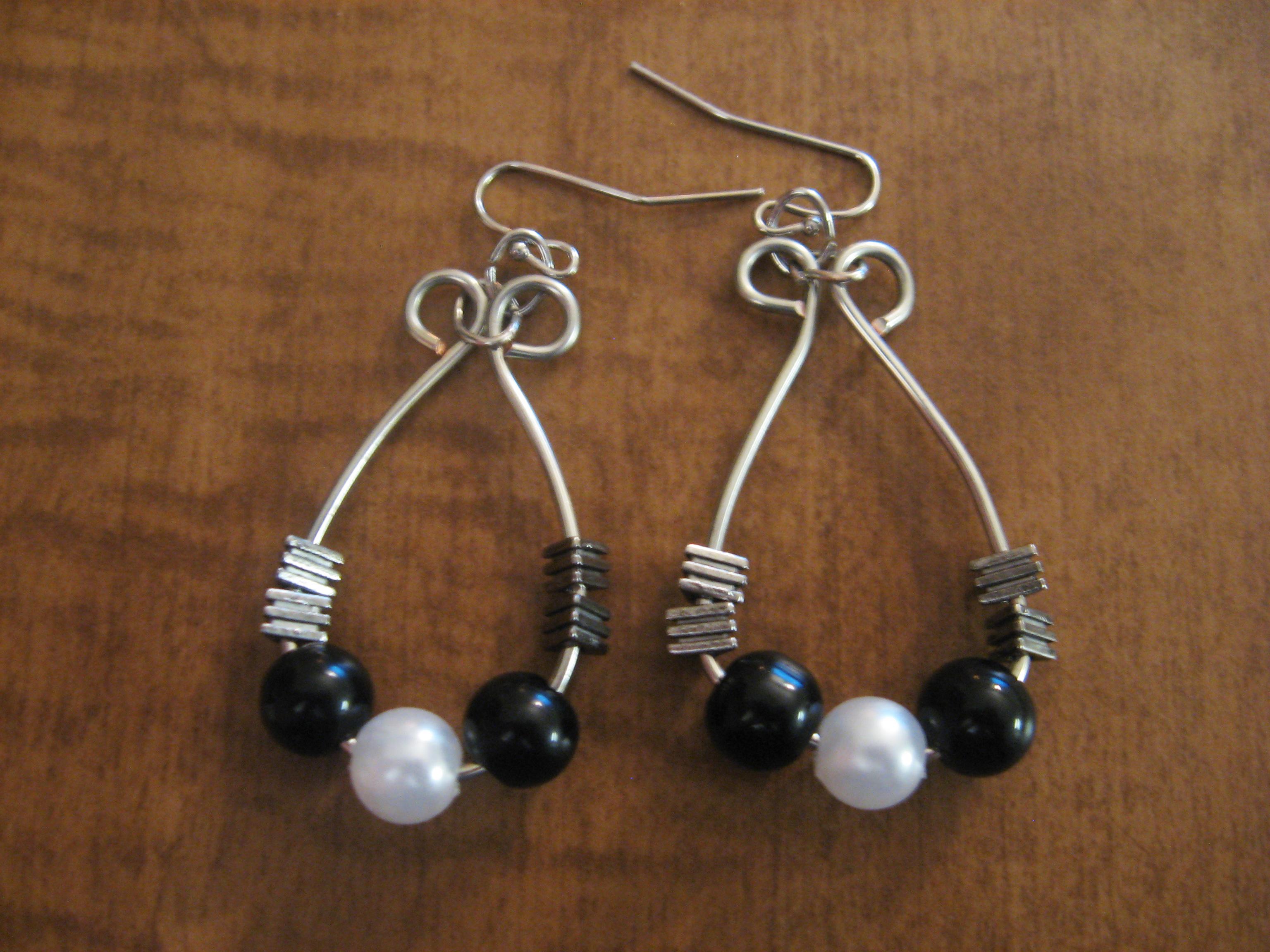 diy beaded hoop wire wrapped earrings make something