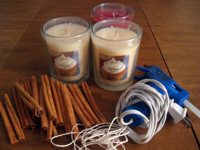 DIY Cinnamon Candle Fall Decor
