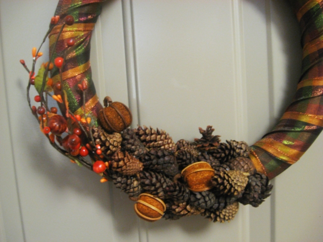 decorative fall wreath