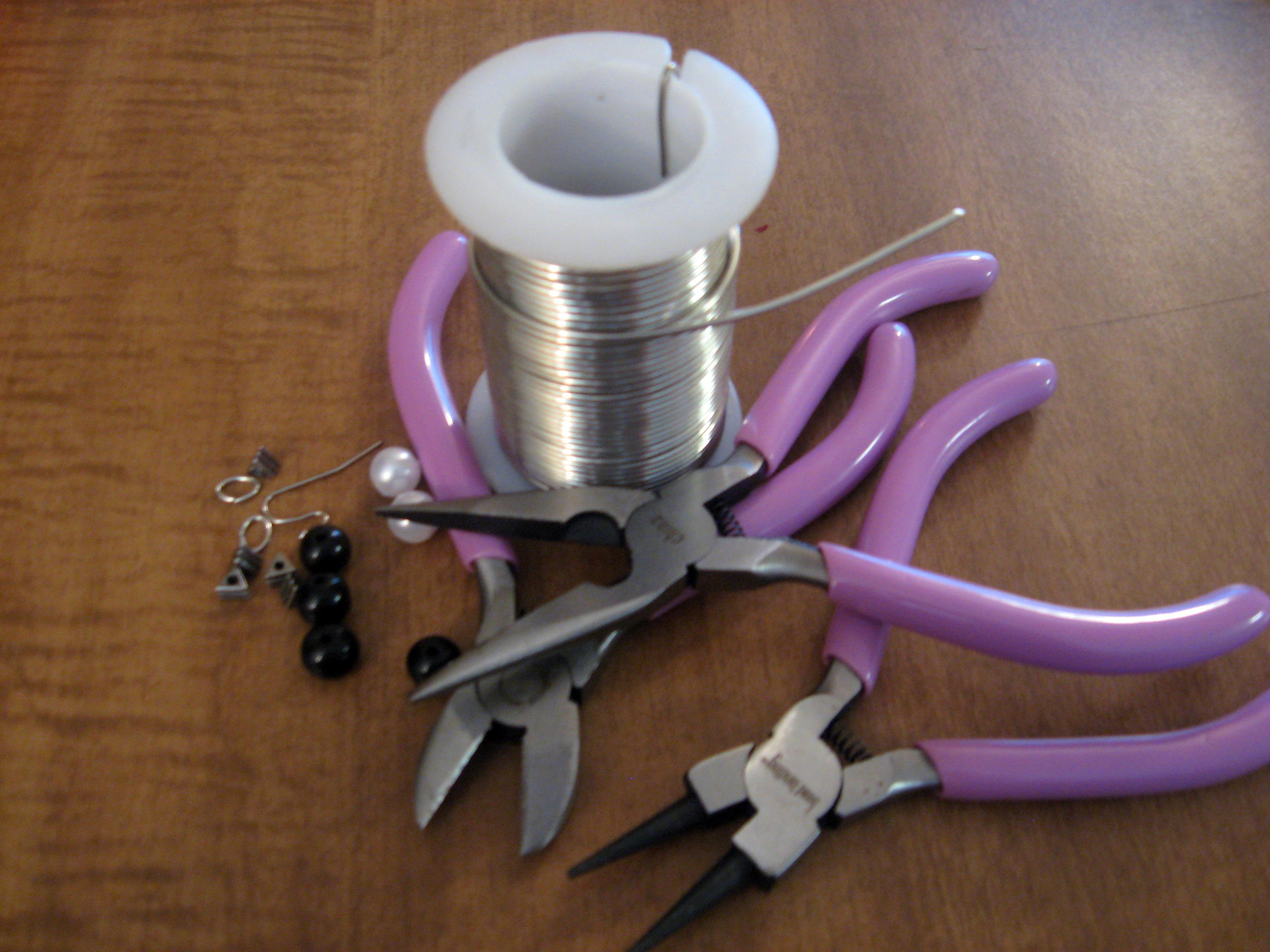 Diy Beaded Hoop Earrings Materials