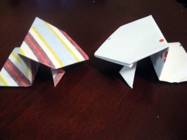 DIY Origami Frog