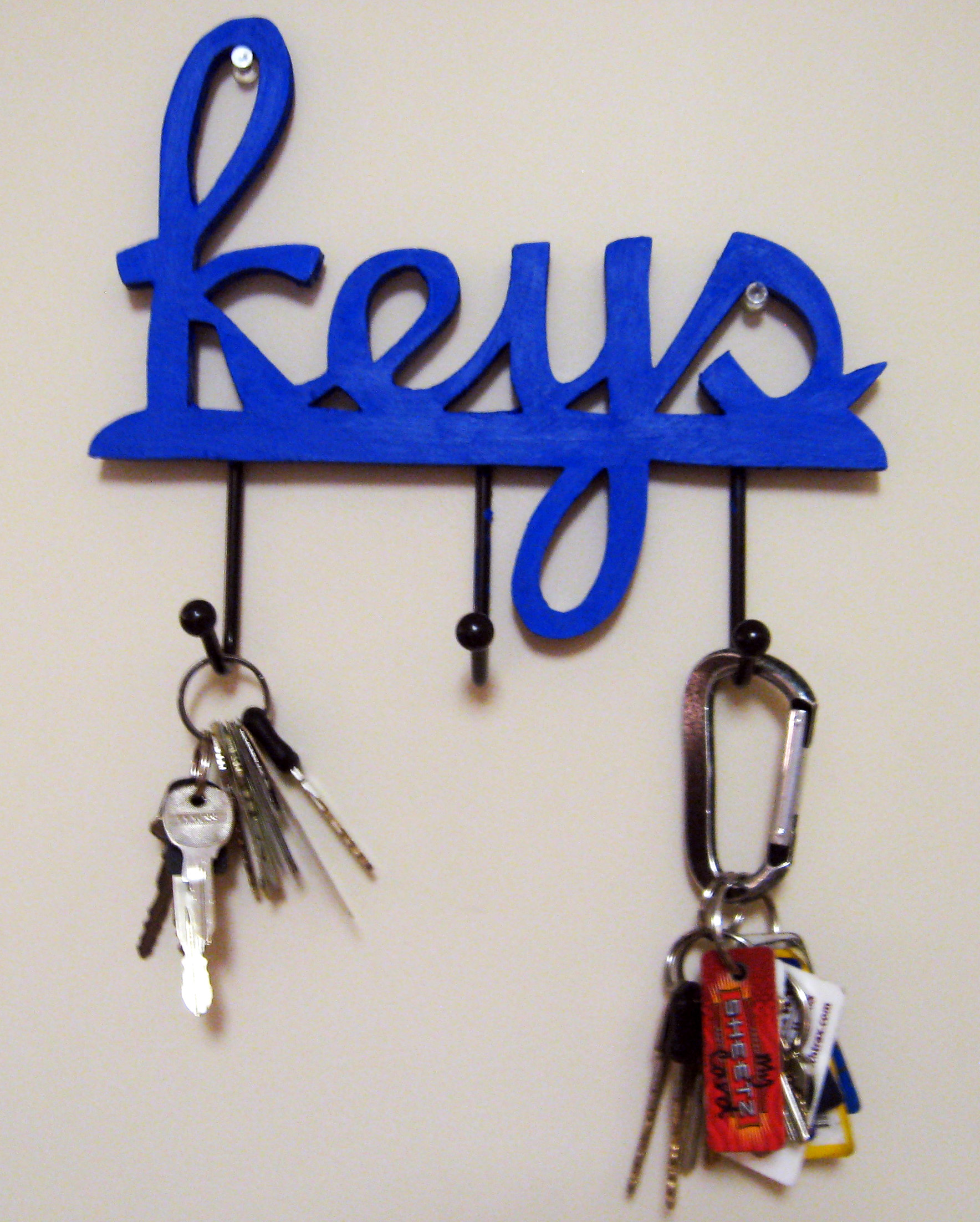 Diy key holder make something mondays for Cool wall hook ideas