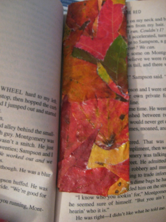 diy leaf bookmark