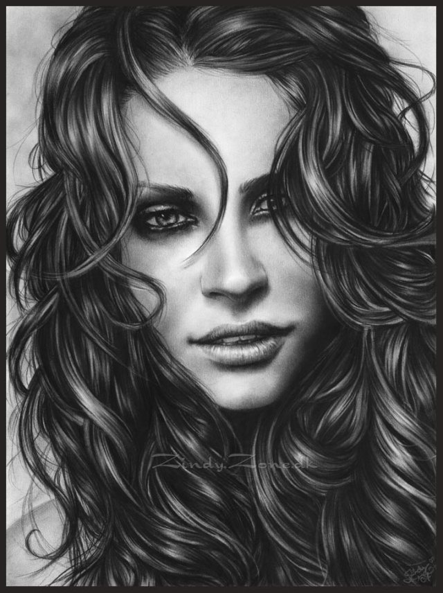 Portrait Drawings by Zindy