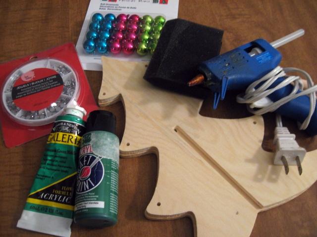 DIY Christmas tree materials