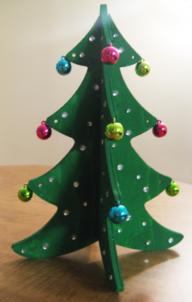 DIY decorative christmas tree