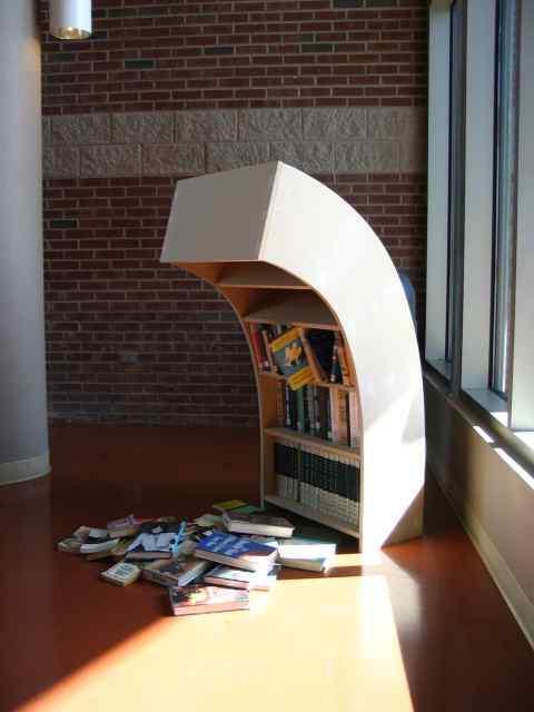 sad bookshelf