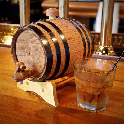 oak whiskey barrel