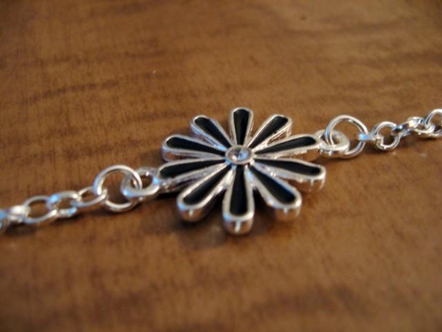 bracelet flower charm