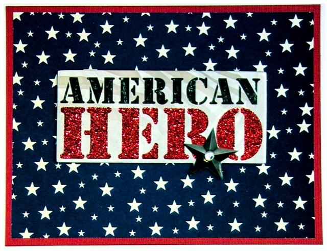 American Hero greeting card