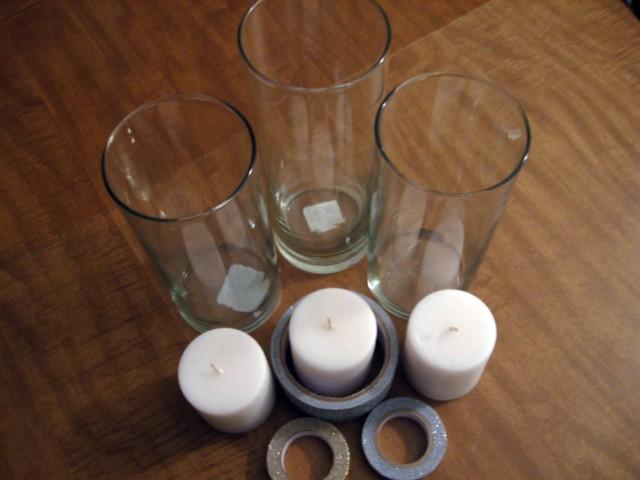 DIY glitter vase materials