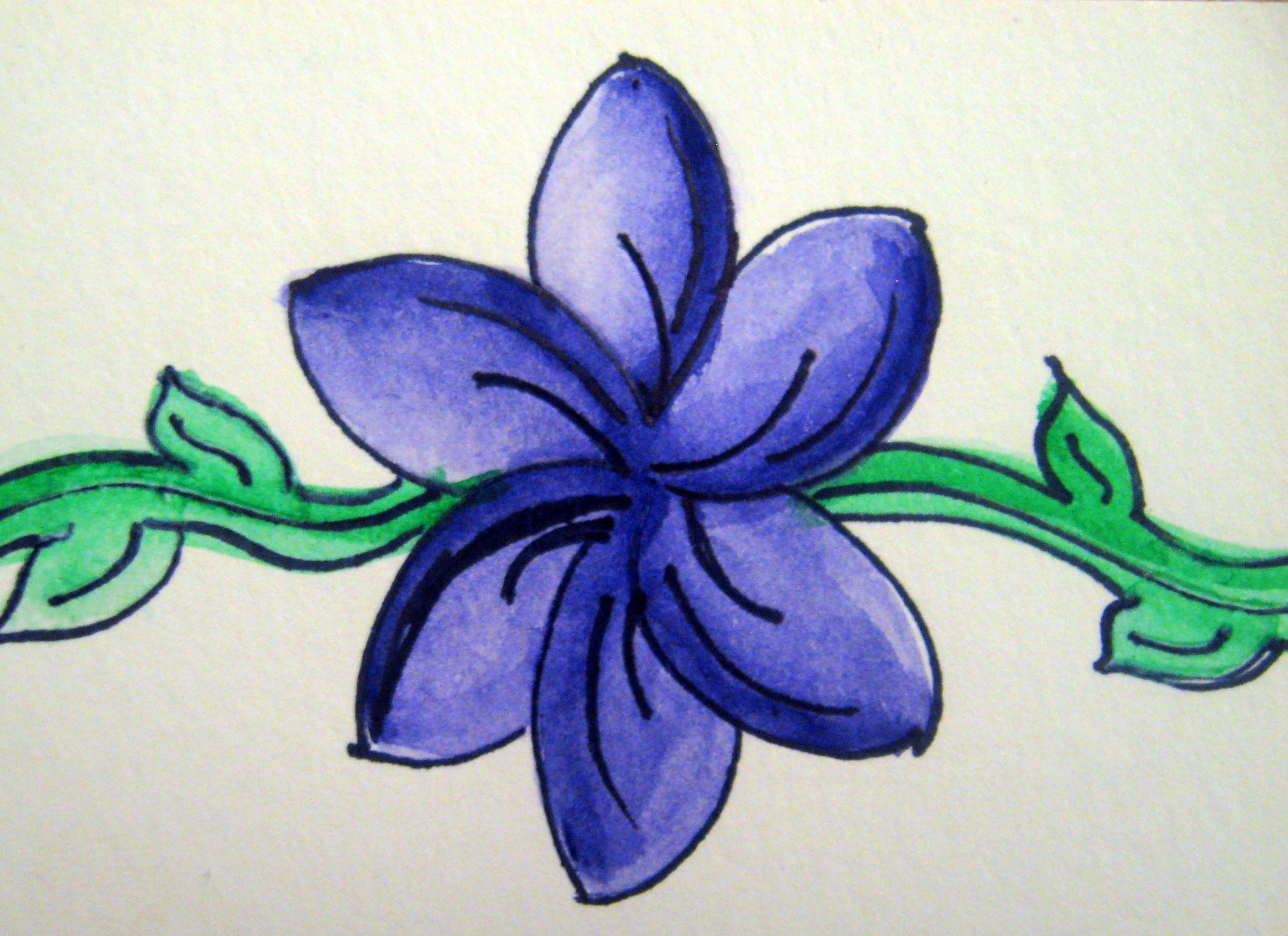 Diy basic watercolor flower make something mondays for Basic painting