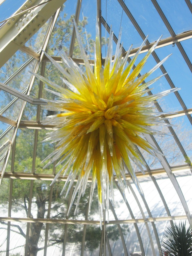 glass sun sculpture