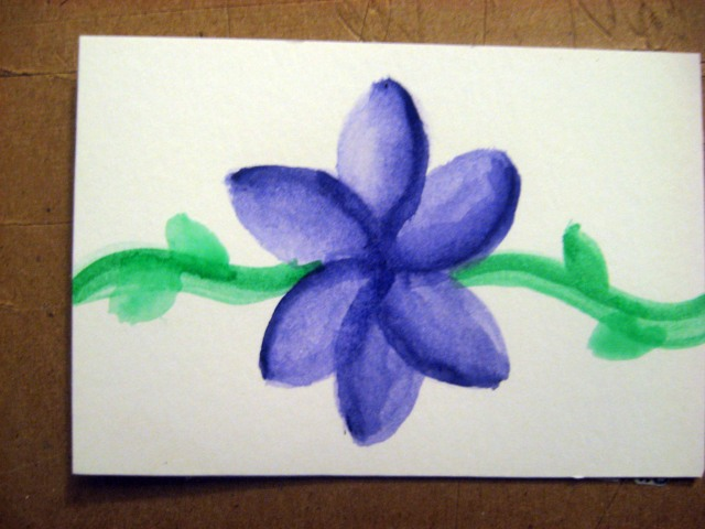 purple watercolor flower