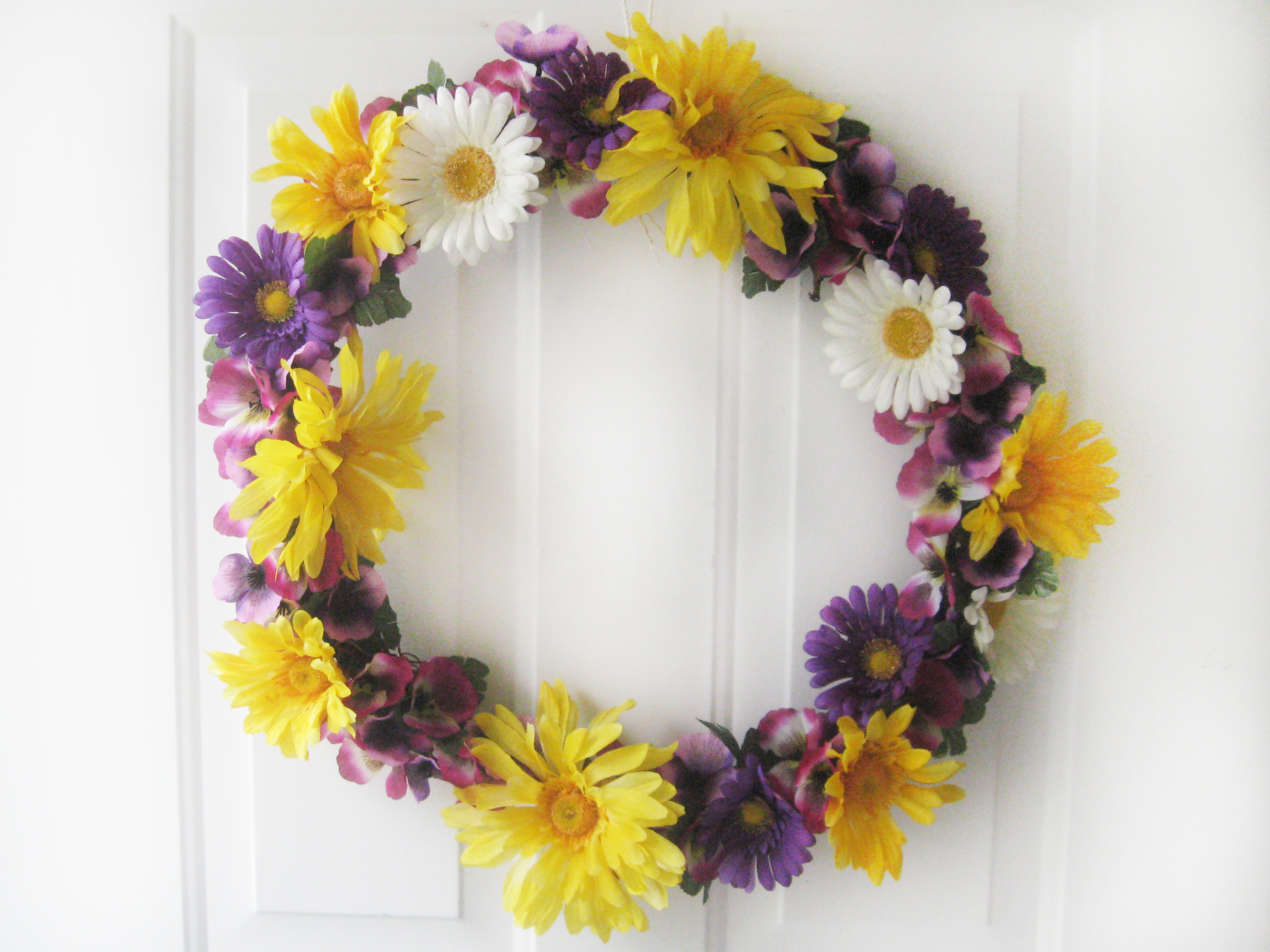 diy spring wreath with flowers make something mondays