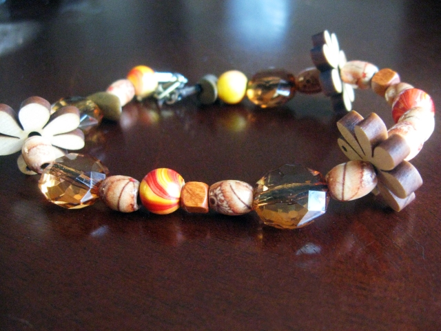 DIY Wooden Beaded Bracelet