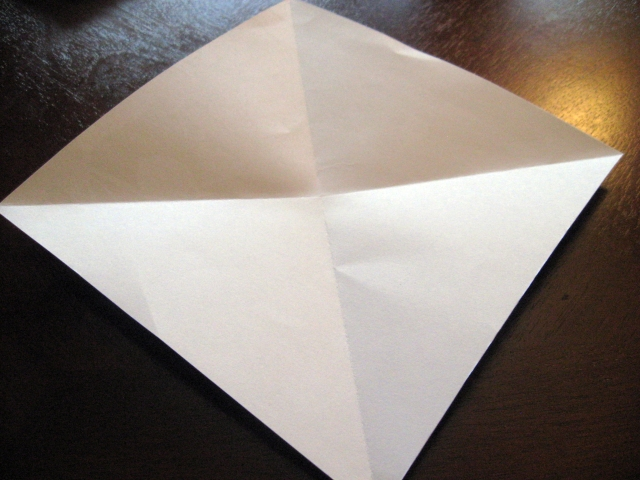 fold paper diagonally