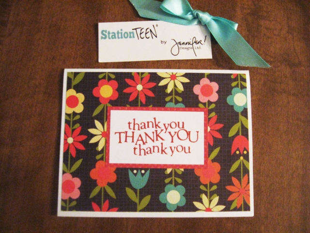 Thank You card from Station Teen