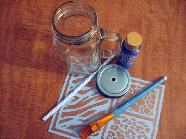DIY painted glass mug materials