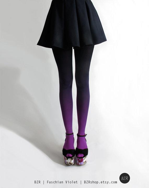 black and purple stockings