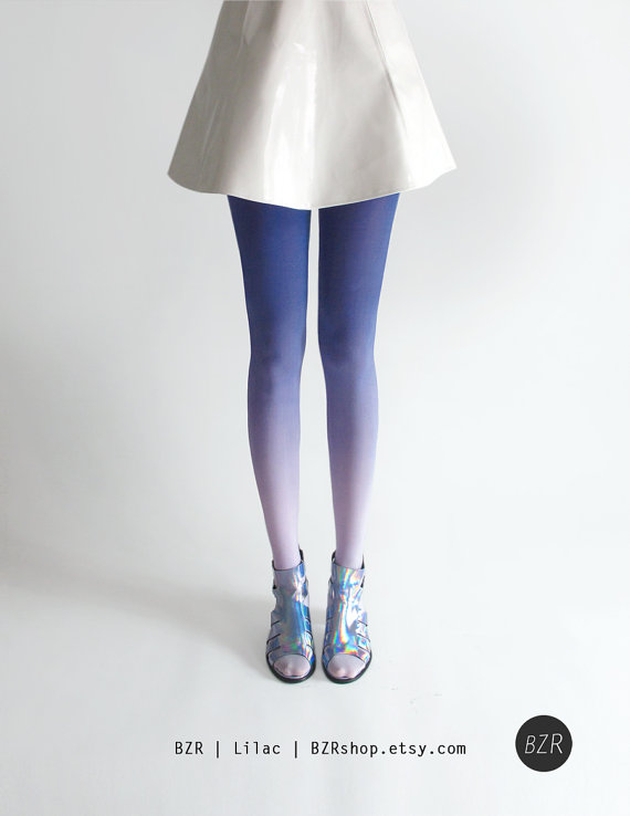 blue and lilac stockings