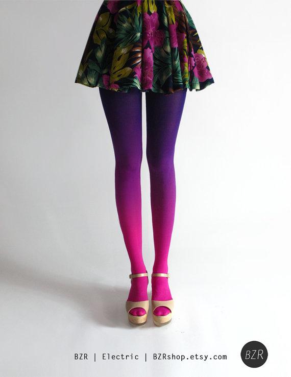 dark pink and purple leggings