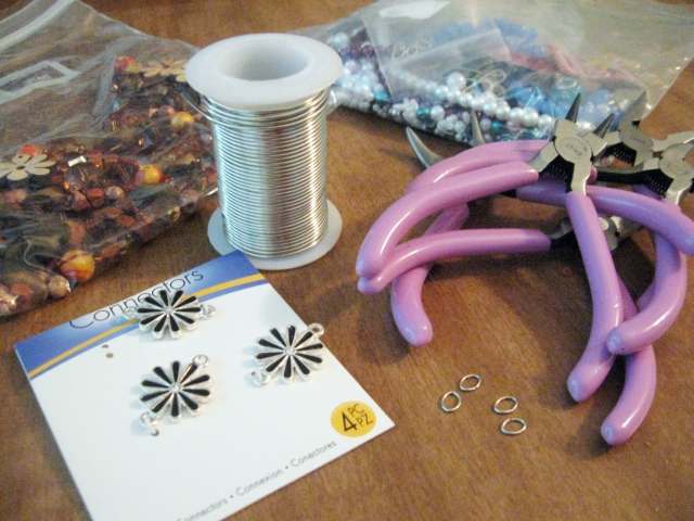 materials for DIY wine glass charms